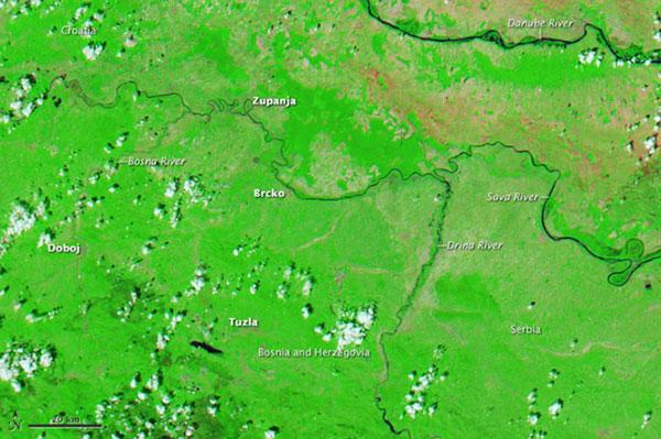 Знімки повені NASA