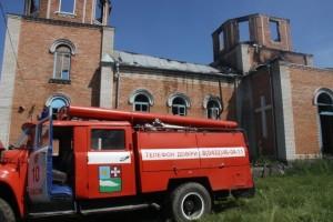 Пожежа в церкві у Вінницькій області