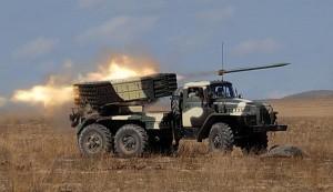 Обстріл російською артилерією