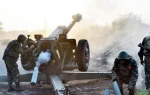 обстріл бойовиками з артилерії