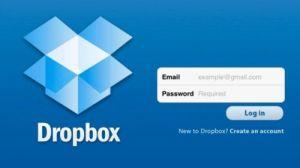 Dropbox авторизація
