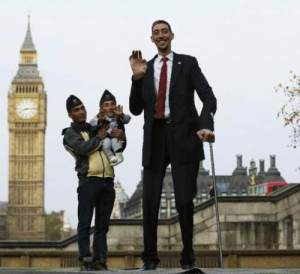 найвища та найнижча людини