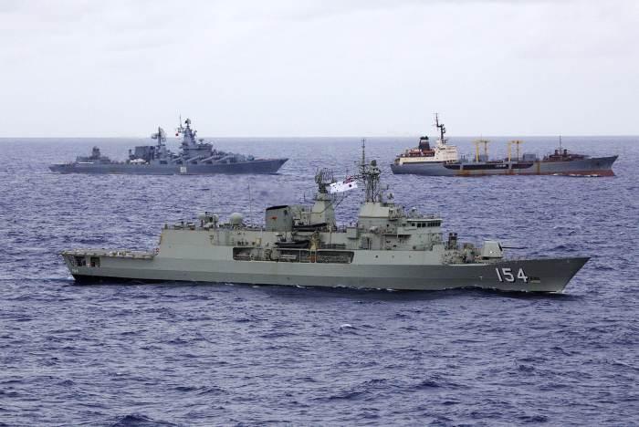 флот росії та австралії