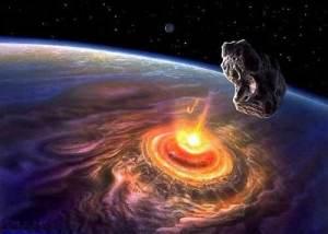 метеорит впав на землю