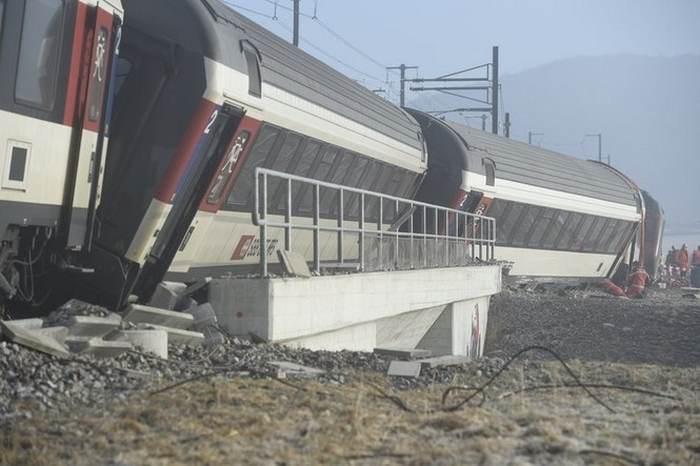 швейцарія аварія поїздів