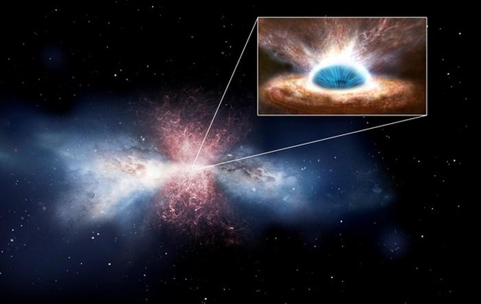 галактика звільняється від газу