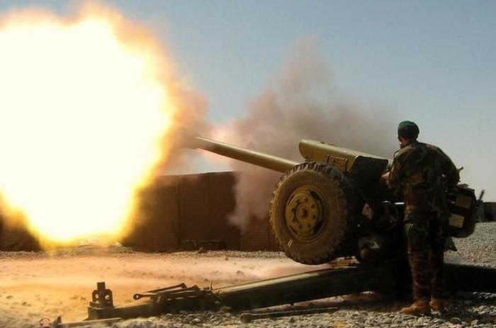 вогонь із артилерії ато