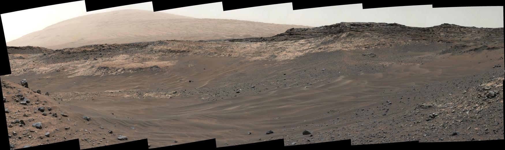 панорама марсу Curiosity