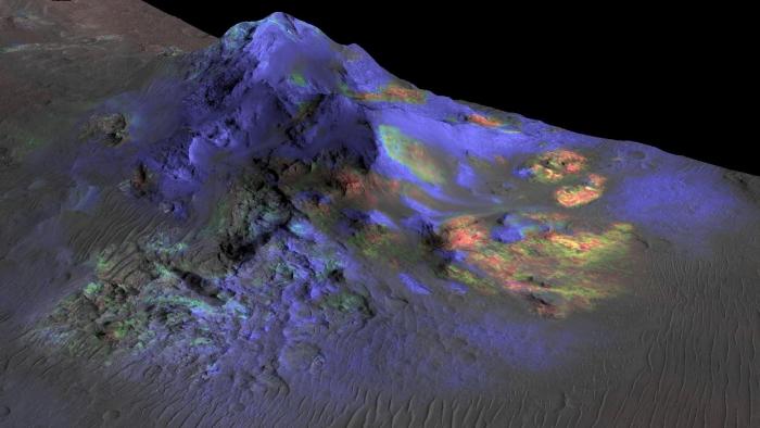 поклади скла на марсі