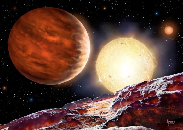 ілюстрація планети WASP-142b