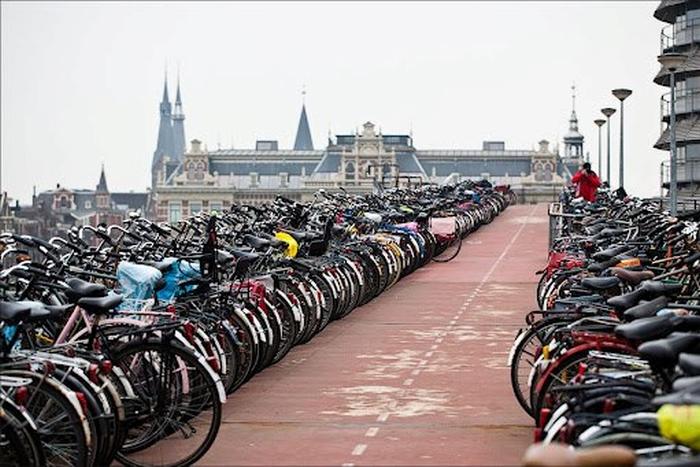 велопарковка голландія