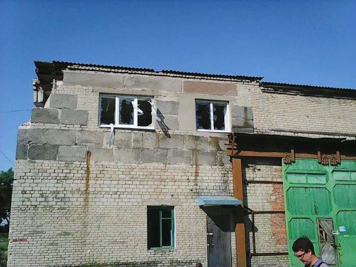 авдіївський коксохімічний завод після обстрілу