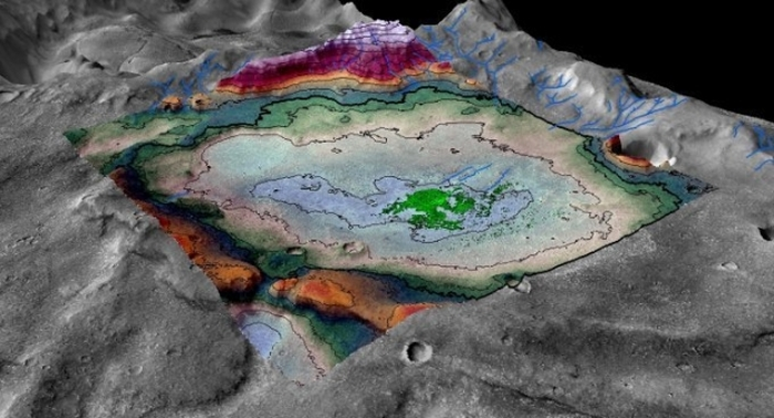 сліди озера марс