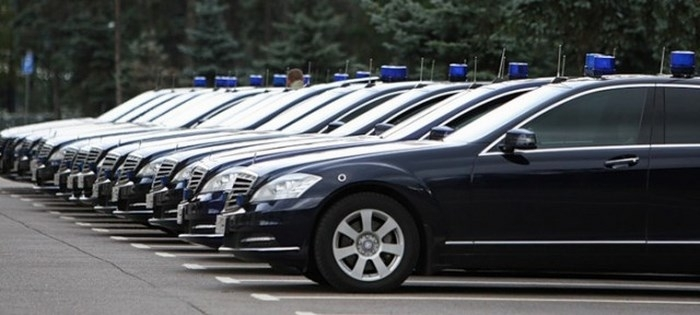 автомобілі російських чиновників