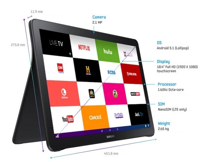 Samsung, планшет Galaxy View