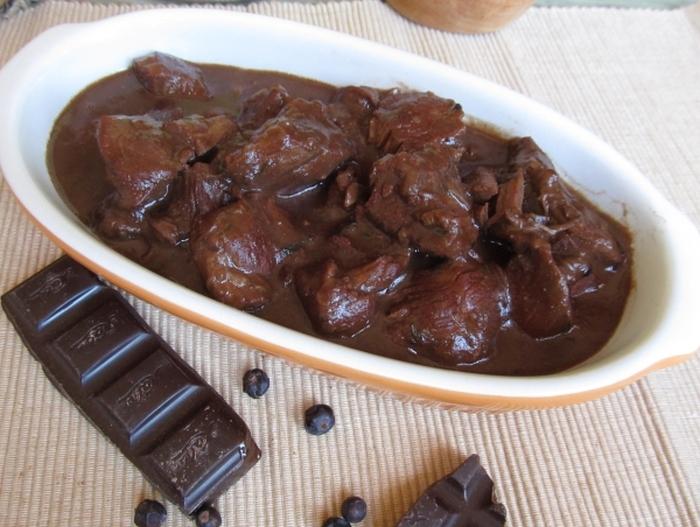 м'ясо та шоколад