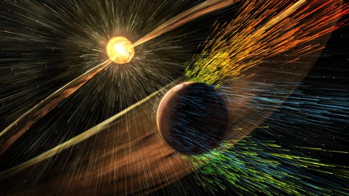 атмосферу марса здуло сонце