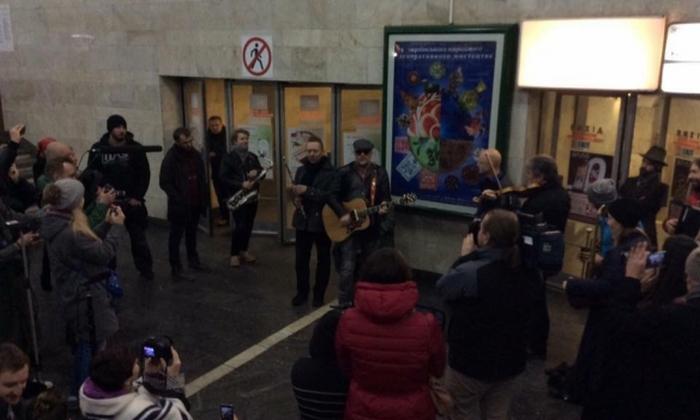Гребенщиков у київському метро
