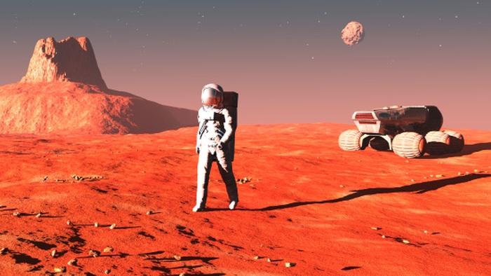 астронавти на марсі