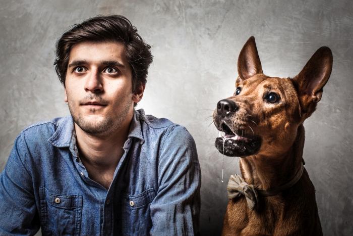чоловік і собака