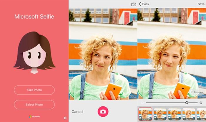 Microsoft Selfie для iOS