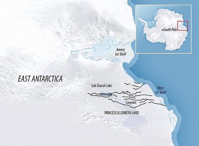 антарктика найбільший каньйон на планеті