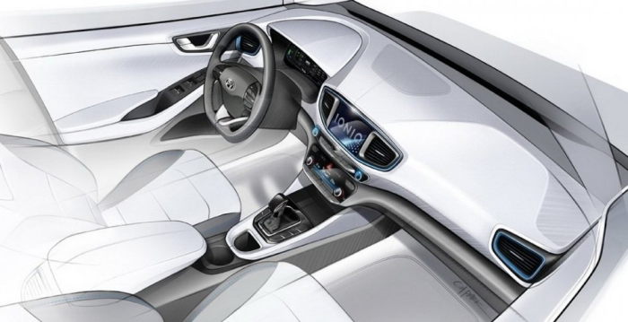Hyundai Ioniq ескіз