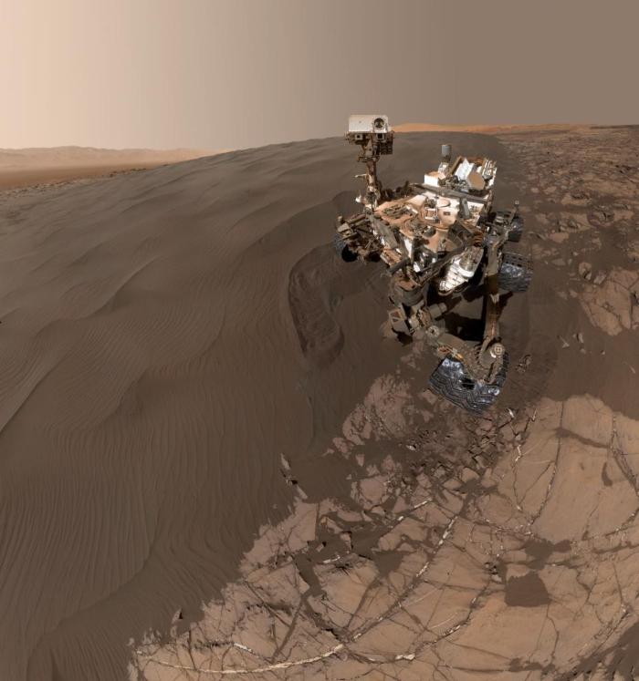 Curiosity селфі на марсі