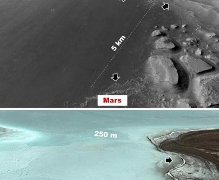 сліди населених озер на Марсі