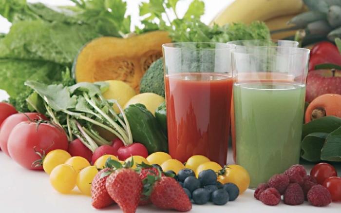 соковмісні фрукти та овочі