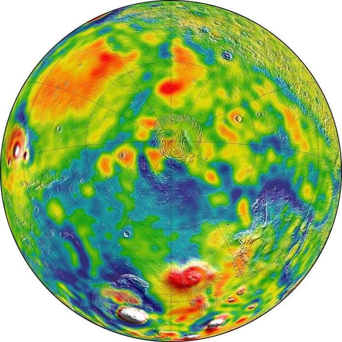 гравітаційна карта марсу