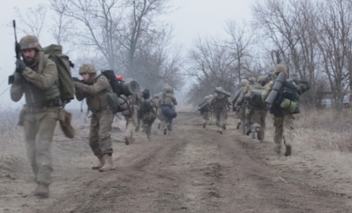 навчання піхоти полку Азов