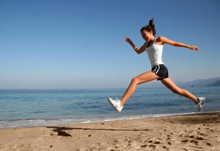 спорт на пляжі