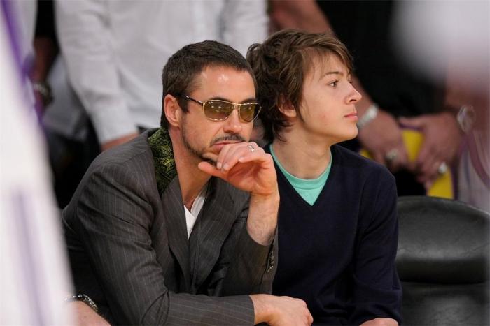 Роберт Дауні-молодший з сином