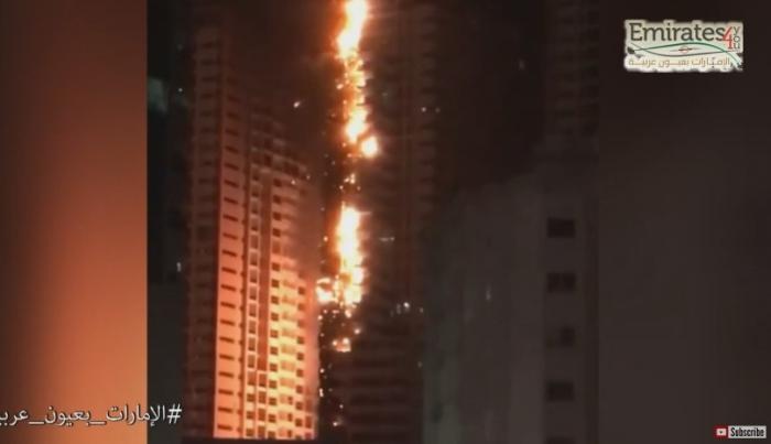 пожежа в хмарочосах комплексу Ajman