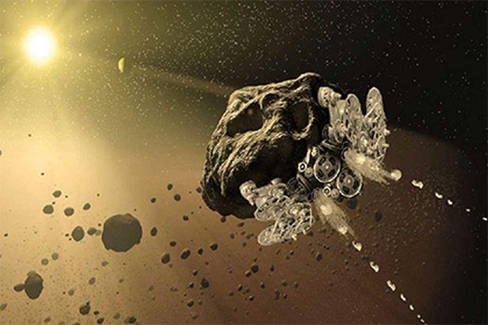 астероїд у космічний корабель