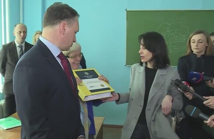 Хатія Деканоідзе на презентації проекту перепідготовки дільничних офіцерів