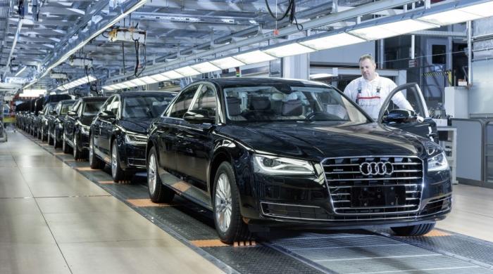 Audi A8 виробництво