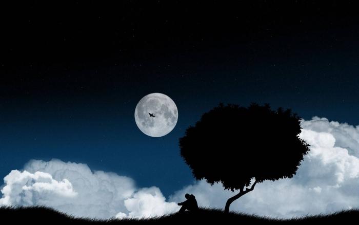 місяць людина