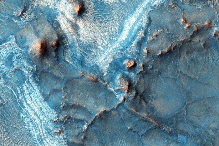 блакитна поверхня марса