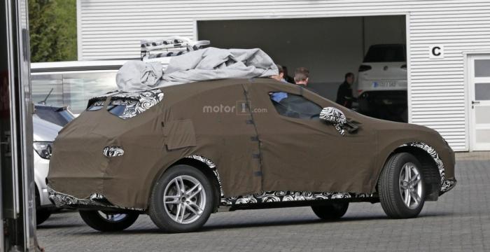 Audi Q3 на тестах
