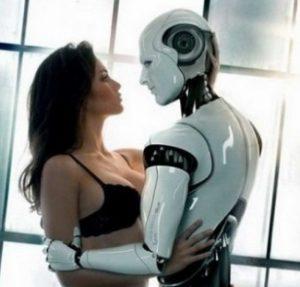 жінка з роботом