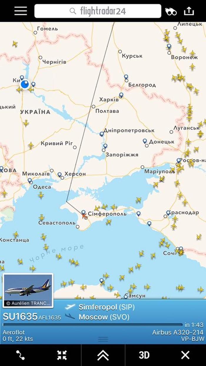 Flightradar сімферополь-москва
