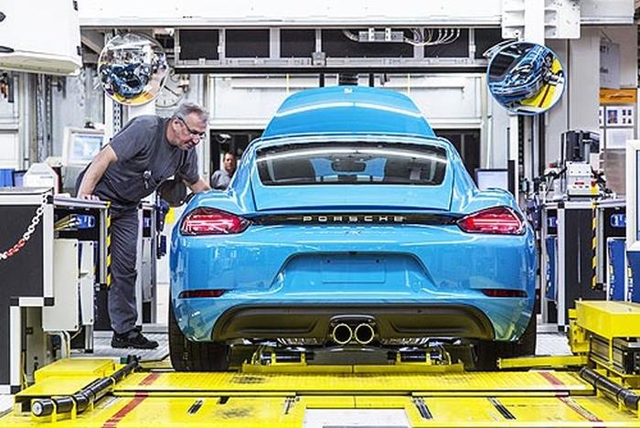 Porsche 718 Cayman виробництво