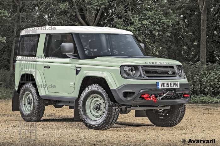 Land Rover Defender рендер