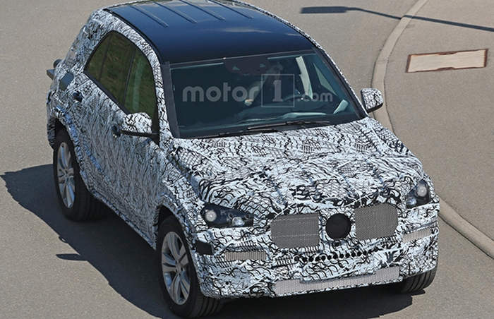 Mercedes GLE 2018 на тестах