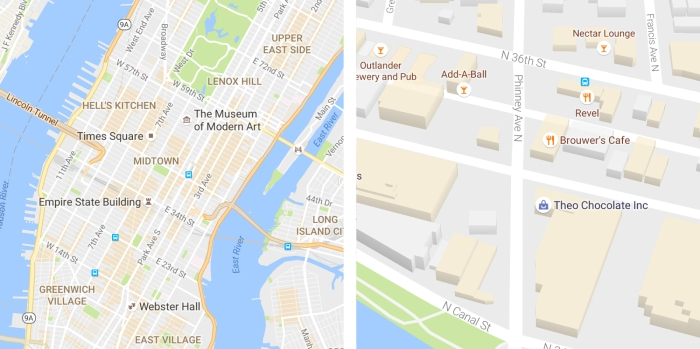 новий дизайн Google Maps