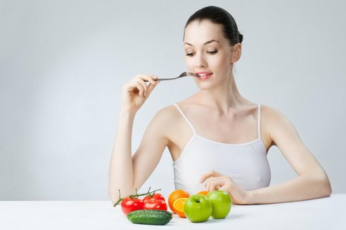 жінка харчування