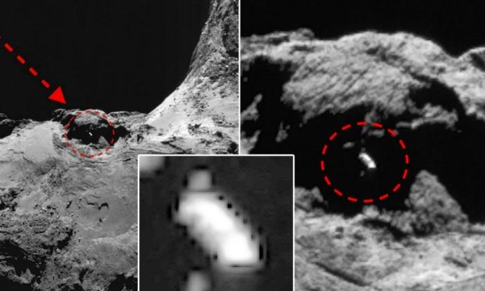 космічний корабель на кометі 67Р