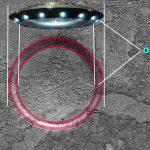 слід від космодрому НЛО на Марсі